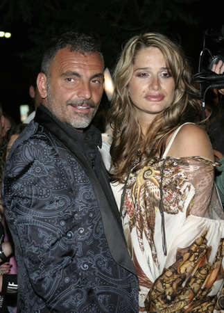 hardy: Christian Audigier and wife Ira at Christian Audigier Fashion Show Featuring New Ed Hardy Label in Hollywood, USA on May 21, 2005. Editorial