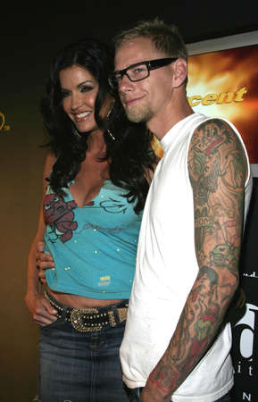 tommy: Janice Dickinson and Tommy Fry at Christian Audigier Fashion Show Featuring New Ed Hardy Label in Hollywood, USA on May 21, 2005.