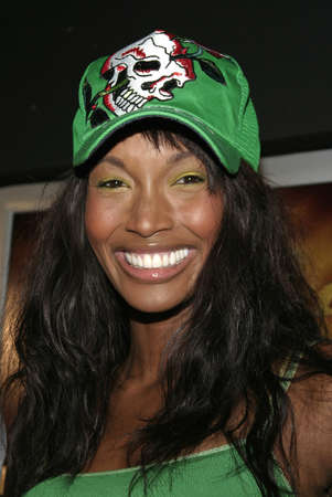 hardy: Beverly Peele at Christian Audigier Fashion Show Featuring New Ed Hardy Label in Hollywood, USA on May 21, 2005.