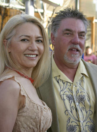 gibson: Bruce McGill and Gloria Lee at the Los Angeles premiere of Cinderella Man held at the Gibson Amphitheatre at Universal City in Hollywood, USA on May 23, 2005.