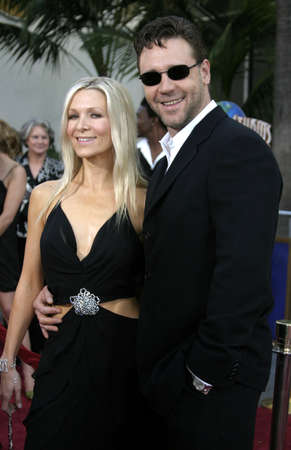 spencer: Russell Crowe and Danielle Spencer at the Cinderella Man Premiere at the Gibson Amphitheatre at Universal City in Hollywood, USA on May 23, 2005. Editorial