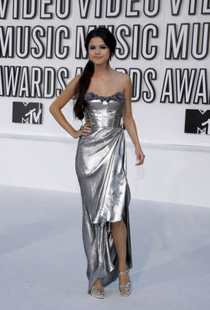 gomez: Selena Gomez at the 2010 MTV Video Music Awards held at the Nokia Theatre L.A. Live in Los Angeles, USA on September 12, 2010.