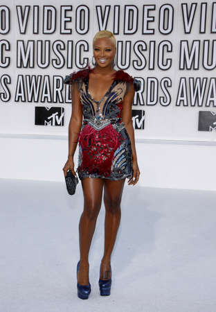 Eva Marcille at the 2010 MTV Video Music Awards held at the Nokia Theatre L.A. Live in Los Angeles, USA on September 12, 2010.