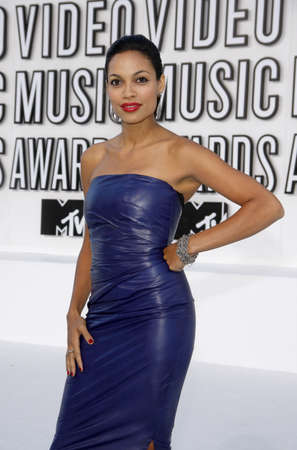 mtv: Rosario Dawson at the 2010 MTV Video Music Awards held at the Nokia Theatre L.A. Live in Los Angeles, USA on September 12, 2010.