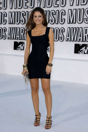 mtv: Maria Menounos at the 2010 MTV Video Music Awards held at the Nokia Theatre L.A. Live in Los Angeles, USA on September 12, 2010.