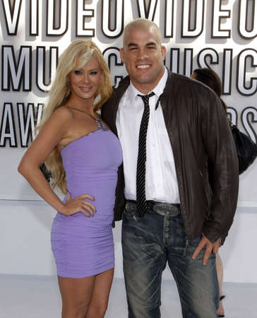 mtv: Tito Ortiz and Jenna Jameson at the 2010 MTV Video Music Awards held at the Nokia Theatre L.A. Live in Los Angeles, USA on September 12, 2010.