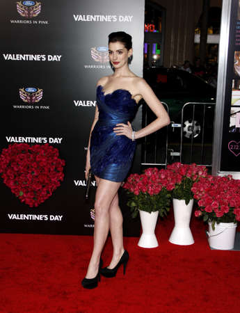 hathaway: Anne Hathaway at the Los Angeles premiere of Valentines Day held at the Graumans Chinese Theate in Hollywood, USA on February 8, 2010. Editorial