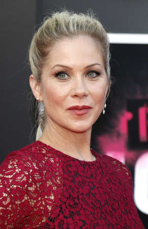 Christina Applegate at the Los Angeles premiere of Bad Moms held at the Mann Village Theater in Westwood, USA on July 26, 2016.