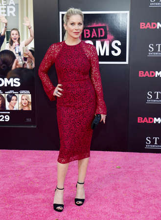 christina: Christina Applegate at the Los Angeles premiere of 'Bad Moms' held at the Mann Village Theater in Westwood, USA on July 26, 2016.