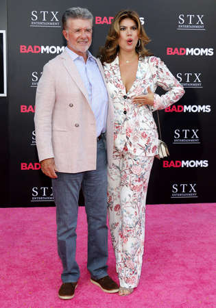 alan: Alan Thicke and Tanya Callau at the Los Angeles premiere of 'Bad Moms' held at the Mann Village Theater in Westwood, USA on July 26, 2016.