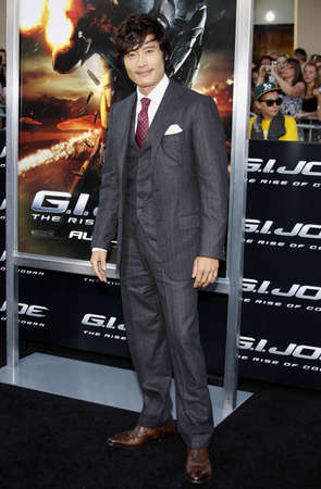 premieres: Byung-hun Lee at the Los Angeles premiere of G.I. Joe: The Rise of Cobra held at the Graumans Chinese Theater in Hollywood, USA on August 6, 2009.