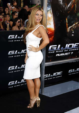gi: Aubrey ODay at the Los Angeles premiere of G.I. Joe: The Rise of Cobra held at the Graumans Chinese Theater in Hollywood, USA on August 6, 2009. Editorial
