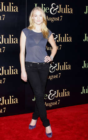 mann: Yvonne Strahovski at the Los Angeles screening of Julie & Julia held at the Mann Village Theater in Westwood, USA on July 27, 2009. Editorial
