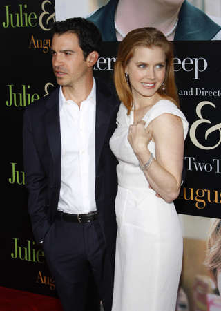 Chris Messina and Amy Adams at the Los Angeles screening of Julie & Julia held at the Mann Village Theater in Westwood, USA on July 27, 2009. Editorial