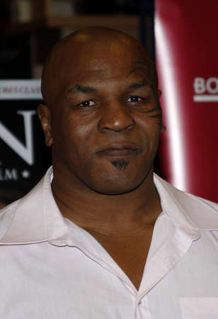 bluray: Mike Tyson meets fans and signs copies of the Blu-ray and DVD Tyson held at the Borders in Hollywood, USA on August 18, 2009.