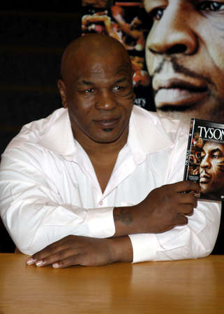 meets: Mike Tyson meets fans and signs copies of the Blu-ray and DVD Tyson held at the Borders in Hollywood, USA on August 18, 2009.