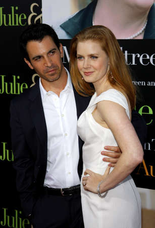 adams: Chris Messina and Amy Adams at the Los Angeles premiere of Julie & Julia held at the Mann Village Theater in Westwood, USA on July 27, 2009.