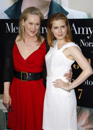 adams: Amy Adams and Meryl Streep at the Los Angeles premiere of Julie & Julia held at the Mann Village Theater in Westwood, USA on July 27, 2009.
