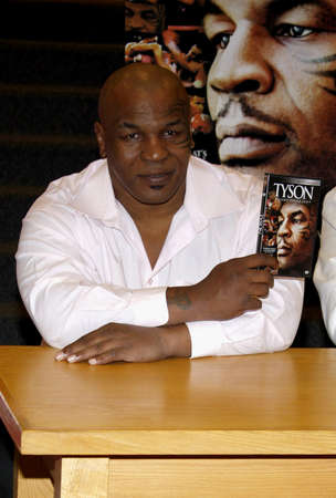 Former boxer Mike Tyson and director James Toback attend a DVD signing for Tyson at Borders in Hollywood, USA on August 18, 2009.