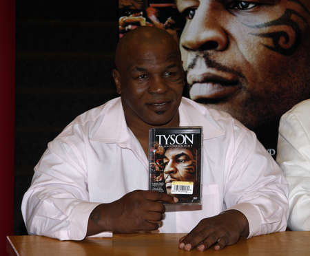 attend: Former boxer Mike Tyson and director James Toback attend a DVD signing for Tyson at Borders in Hollywood, USA on August 18, 2009.