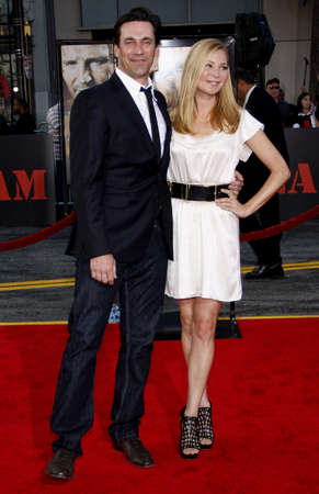 Jon Hamm and Jennifer Westfeldt at the World premiere of The A-Team held at the Graumans Chinese Theater in Hollywood, USA on June 3, 2010.