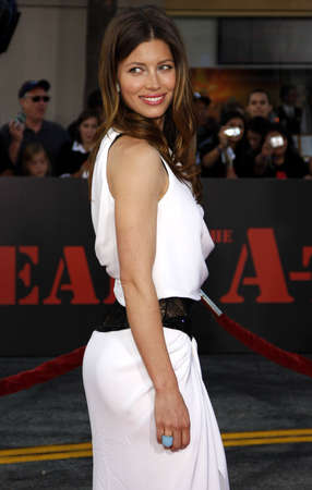 premiere: Jessica Biel at the World premiere of The A-Team held at the Graumans Chinese Theater in Hollywood, USA on June 3, 2010.