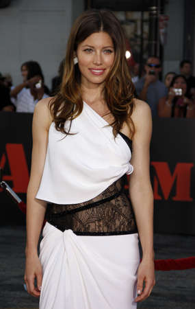 Jessica Biel at the World premiere of The A-Team held at the Graumans Chinese Theater in Hollywood, USA on June 3, 2010.