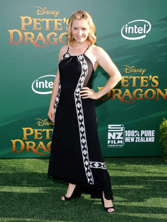 petes: Beverley Mitchell at the World premiere of Petes Dragon held at the El Capitan Theatre in Hollywood, USA on August 8, 2016. Editorial