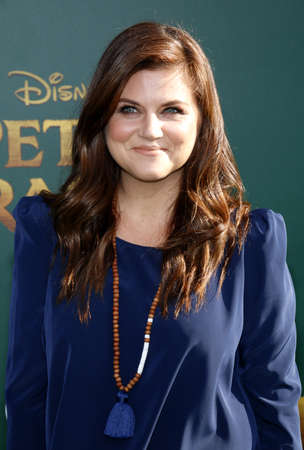 Tiffani Thiessen at the World premiere of Petes Dragon held at the El Capitan Theatre in Hollywood, USA on August 8, 2016. Editorial
