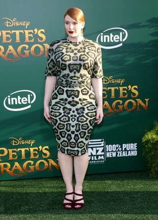 Bryce Dallas Howard at the World premiere of Petes Dragon held at the El Capitan Theatre in Hollywood, USA on August 8, 2016.