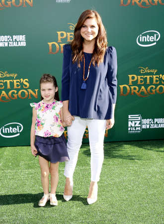 petes: Tiffani Thiessen at the World premiere of Petes Dragon held at the El Capitan Theatre in Hollywood, USA on August 8, 2016. Editorial
