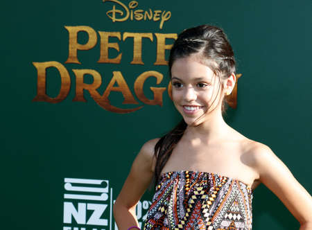 petes: Jenna Ortega at the World premiere of Petes Dragon held at the El Capitan Theatre in Hollywood, USA on August 8, 2016.