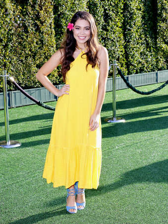 petes: Aulii Cravalho at the World premiere of Petes Dragon held at the El Capitan Theatre in Hollywood, USA on August 8, 2016. Editorial