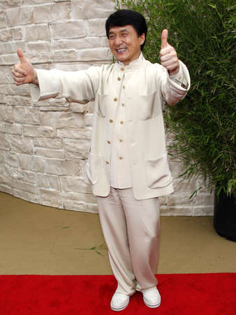 chan: Jackie Chan at the Los Angeles premiere of The Karate Kid held at the Mann Village Theater in Westwood, USA on June 7, 2010. Editorial