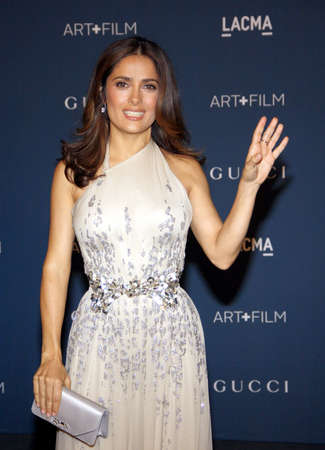 held: Salma Hayek at the LACMA 2013 Art + Film Gala Honoring Martin Scorsese And David Hockney Presented By Gucci held at the LACMA in Los Angeles, USA on November 2, 2013. Editorial