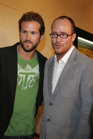 Ryan Reynolds and Rob McKittrick at the Los Angeles premiere of Waiting held at the Manns Bruin Theater in Westwood, USA on September 29, 2005.