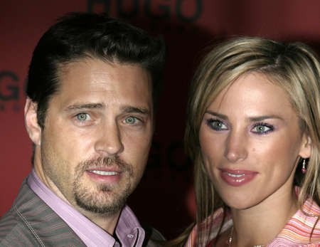 Jason Priestley and Naomi Lowde at the Hugo Boss Fall Winter 2005 Mens and Womens Collections Party and Fashion Show held at the Beverly Hills Hotel in Beverly Hills, USA on March 15, 2005.