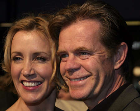 felicity: Felicity Huffman and William H. Macy at the Los Angeles premiere of Sahara held at the Graumans Chinese Theater in Hollywood, USA on April 4, 2005.