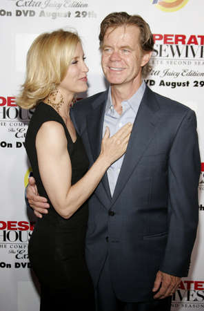 William H. Macy and Felicity Huffman at the Desperate Housewives: Extra Juicy Edition Season 2 DVD Launch held at the Wisteria Lane Universal Studios in Hollywood, USA on August 5, 2006.
