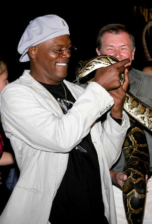 samuel: Samuel L. Jackson at the Los Angeles premiere of Snakes on a Plane held at the Graumans Chinese Theatre in Hollywood, USA on August 17, 2006.