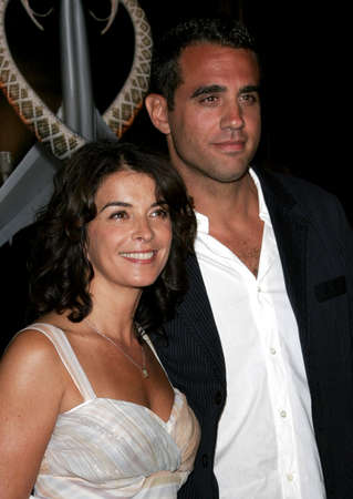 bobby: Annabella Sciorra and Bobby Cannavale at the Los Angeles premiere of Snakes on a Plane held at the Graumans Chinese Theatre in Hollywood, USA on August 17, 2006.