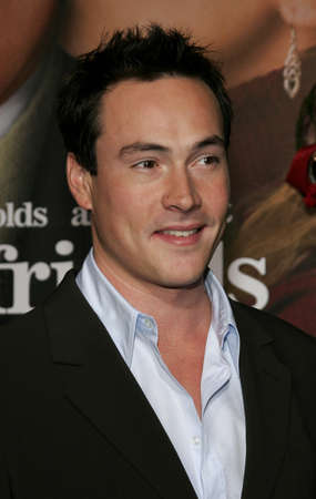 Chris Klein at the Los Angeles premiere of Just Friends Premiere at the Mann Village Theatre in Westwood, USA on November 14, 2005.