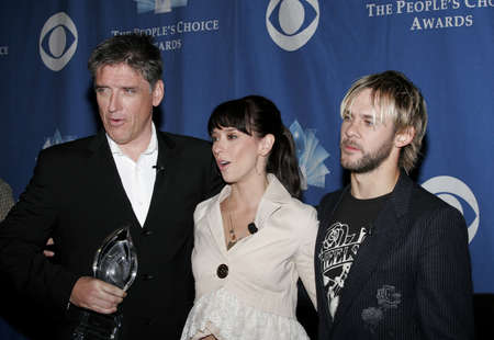 roosevelt hotel: Craig Ferguson, Jennifer Love Hewitt and Dominic Monaghan at the 32nd Annual Peoples Choice Awards Nominations held at the Hollywood Roosevelt Hotel in Hollywood, USA on November 10, 2005. Editorial