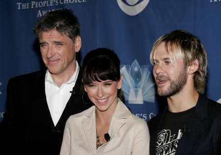 Craig Ferguson, Jennifer Love Hewitt and Dominic Monaghan at the 32nd Annual Peoples Choice Awards Nominations at the Hollywood Roosevelt Hotel in Hollywood, USA on November 10, 2005. Editorial