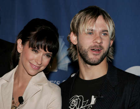 Jennifer Love Hewitt and Dominic Monaghan at the 32nd Annual Peoples Choice Awards Nominations at the Hollywood Roosevelt Hotel in Hollywood, USA on November 10, 2005.