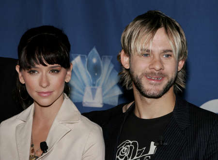 nominations: Jennifer Love Hewitt and Dominic Monaghan at the 32nd Annual Peoples Choice Awards Nominations held at the Hollywood Roosevelt Hotel in Hollywood, California, United States on November 10, 2005. Editorial