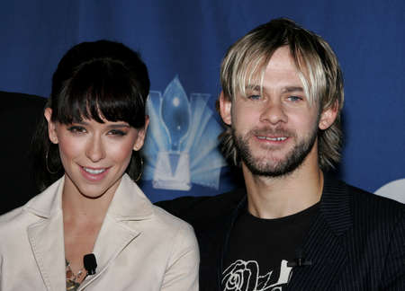 nominations: Jennifer Love Hewitt and Dominic Monaghan at the 32nd Annual Peoples Choice Awards Nominations at The Hollywood Roosevelt Hotel in Hollywood, California, United States on November 10, 2005.