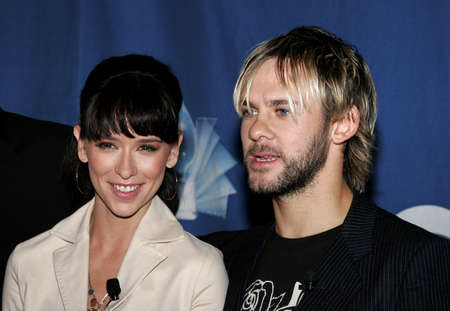 Jennifer Love Hewitt and Dominic Monaghan at the 32nd Annual Peoples Choice Awards Nominations at The Hollywood Roosevelt Hotel in Hollywood, California, United States on November 10, 2005.