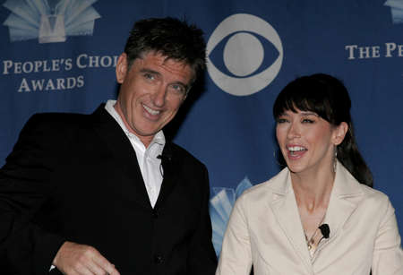 roosevelt hotel: Craig Ferguson and Jennifer Love Hewitt at the 32 nd Annual Peoples Choice Awards Nominations at The Hollywood Roosevelt Hotel in Hollywood, USA on November 10, 2005.