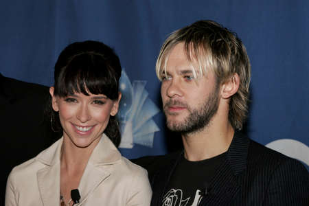 roosevelt hotel: Jennifer Love Hewitt and Dominic Monaghan at the 32 nd Annual Peoples Choice Awards Nominations at The Hollywood Roosevelt Hotel in Hollywood, USA on November 10, 2005.